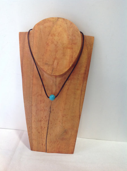 """One Love"" Turquoise and Pearl Unisex Necklace - Klara Haloho - 1"
