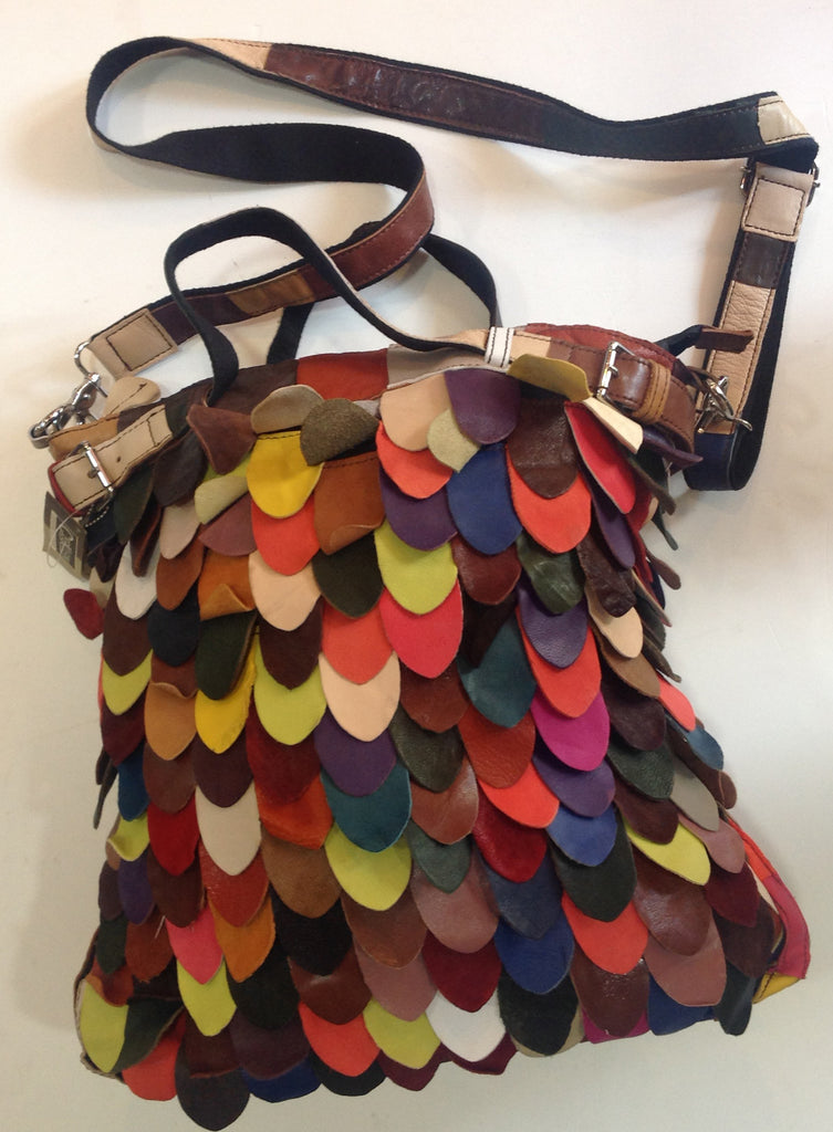Multi-Colored Cowhide Handbag - Klara Haloho - 1