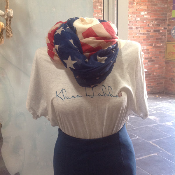"""Stars and Stripes"" Scarf - Klara Haloho - 4"