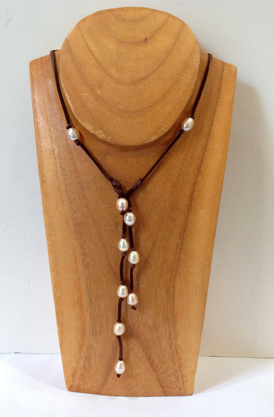 Long Wrap and Lariat Freshwater Pearl Necklace - Klara Haloho - 2