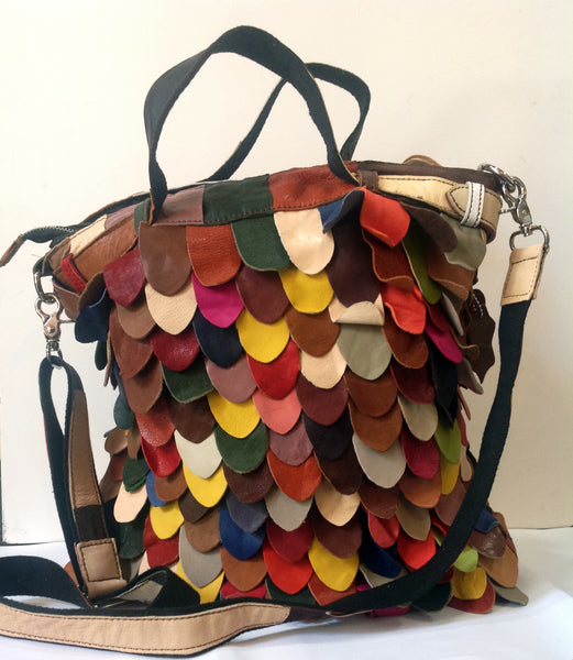 Multi-Colored Cowhide Handbag - Klara Haloho - 4