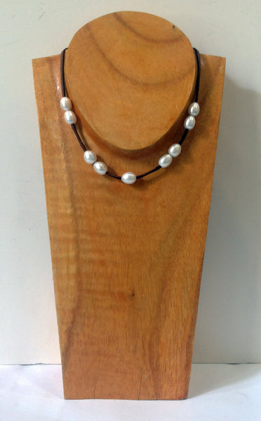 """The Weekender"" Adjustable Freshwater Pearl Necklace - Klara Haloho - 8"