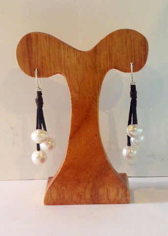 """Three's Company"" Freshwater Pearl Earrings - Klara Haloho - 1"