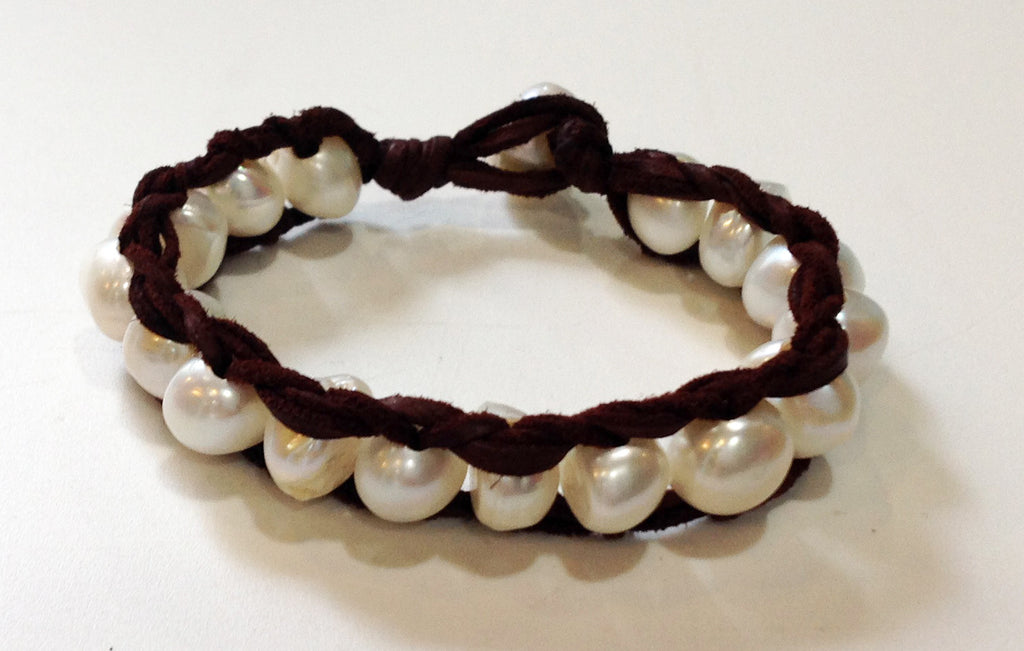 """Lily of the Valley"" Freshwater Pearl Bracelet - Klara Haloho - 1"