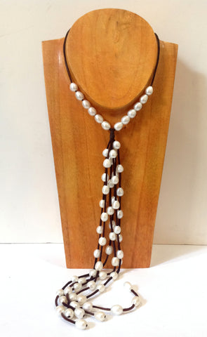 """All You Need"" Adjustable Freshwater Pearl Necklace - Klara Haloho - 1"