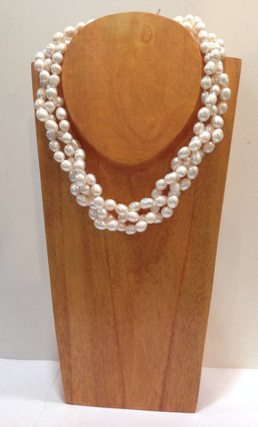 """Twisted"" Freshwater Pearl Necklace - Klara Haloho - 1"