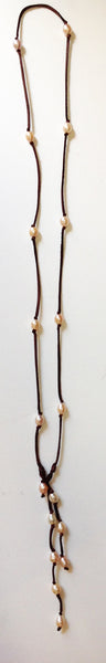 Long Wrap and Lariat Freshwater Pearl Necklace - Klara Haloho - 3