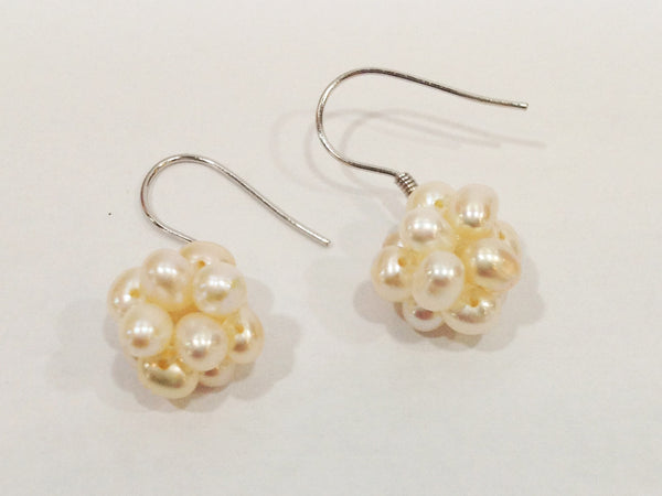 """Cotton Ball"" Freshwater Pearl Earrings - Klara Haloho - 2"
