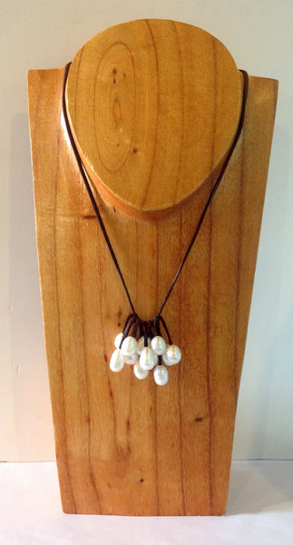 """Unfringed"" Freshwater Pearl Necklace - Klara Haloho - 1"