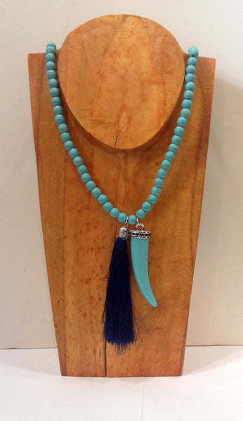 Tassel and Tusk Necklace - Klara Haloho - 1