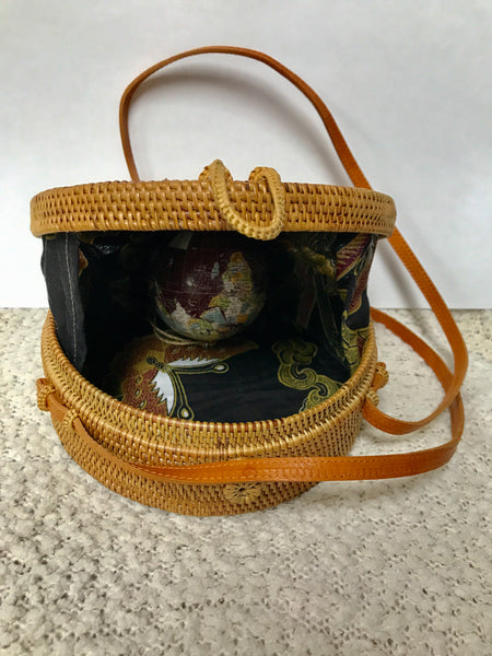 Round Rattan Bags