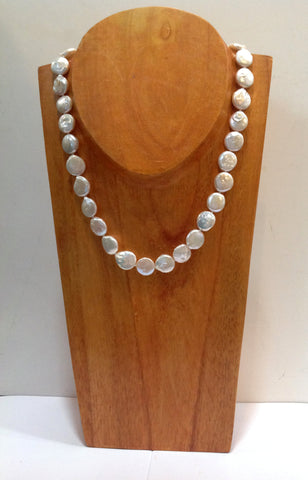 """The Classic Coin"" Freshwater Pearl Necklace - Klara Haloho - 1"