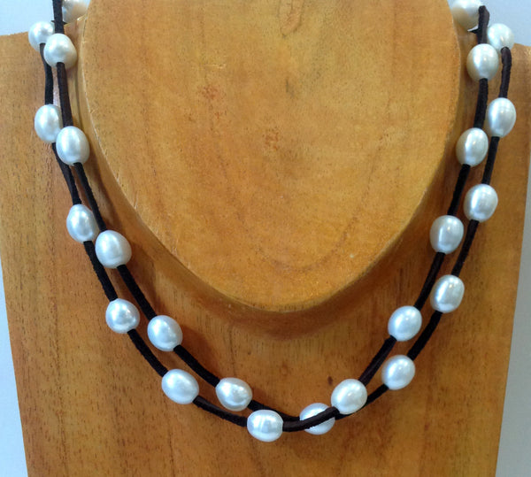 """Night on the Town"" Freshwater Pearl Necklace - Klara Haloho - 7"