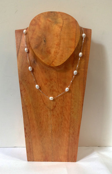 """Floating Clouds"" Freshwater Pearl and Sterling Silver Necklace - Klara Haloho - 1"