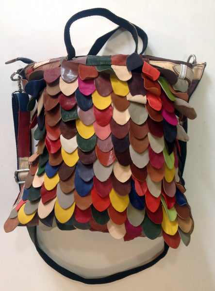Multi-Colored Cowhide Handbag - Klara Haloho - 2