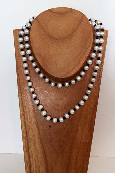 """Knot Another Classic"" Freshwater Pearl Necklace - Klara Haloho - 3"
