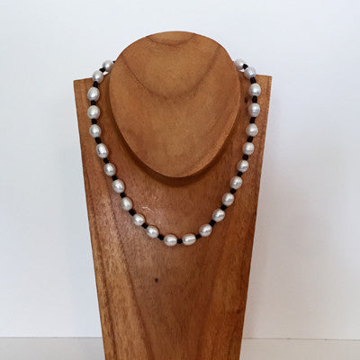 """Knot Another Classic"" Freshwater Pearl Necklace - Klara Haloho - 1"