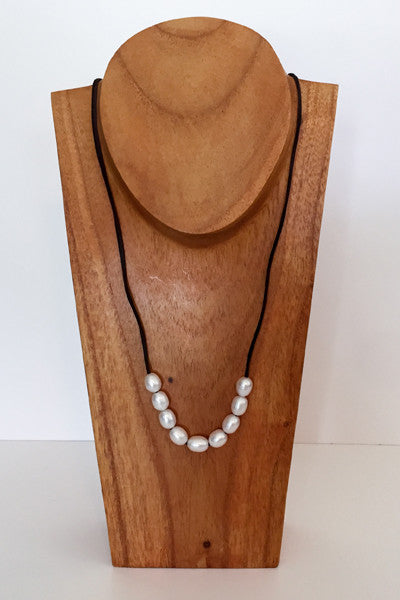 """The Weekender"" Adjustable Freshwater Pearl Necklace - Klara Haloho - 2"