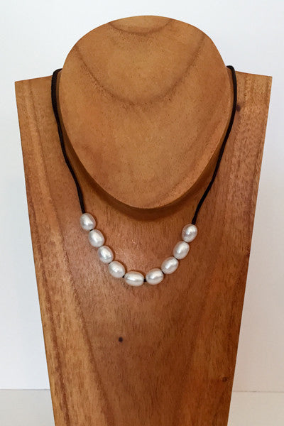 """The Weekender"" Adjustable Freshwater Pearl Necklace - Klara Haloho - 1"