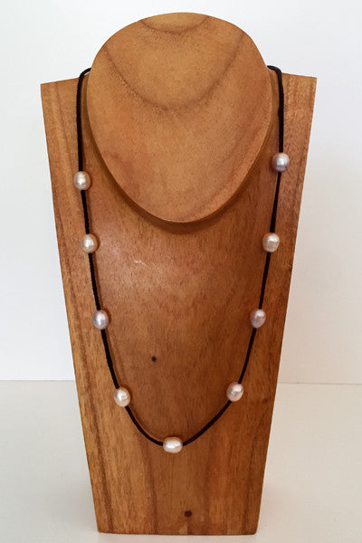 """The Weekender"" Adjustable Freshwater Pearl Necklace - Klara Haloho - 3"
