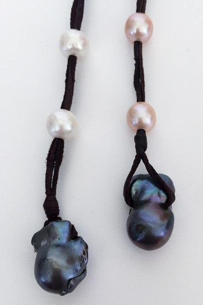 """Fired Up"" Baroque & Freshwater Pearl Necklace - Klara Haloho - 9"