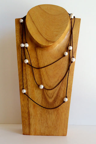 """All Wrapped Up"" Freshwater Pearl Necklace - Klara Haloho - 1"
