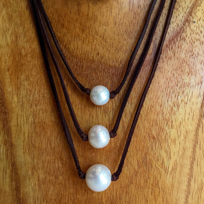 """One Love"" Large Freshwater Pearl Necklace - Klara Haloho - 3"