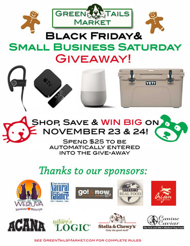 Black Friday & Small Business Saturday Give-Away,  Nov 23 & 24