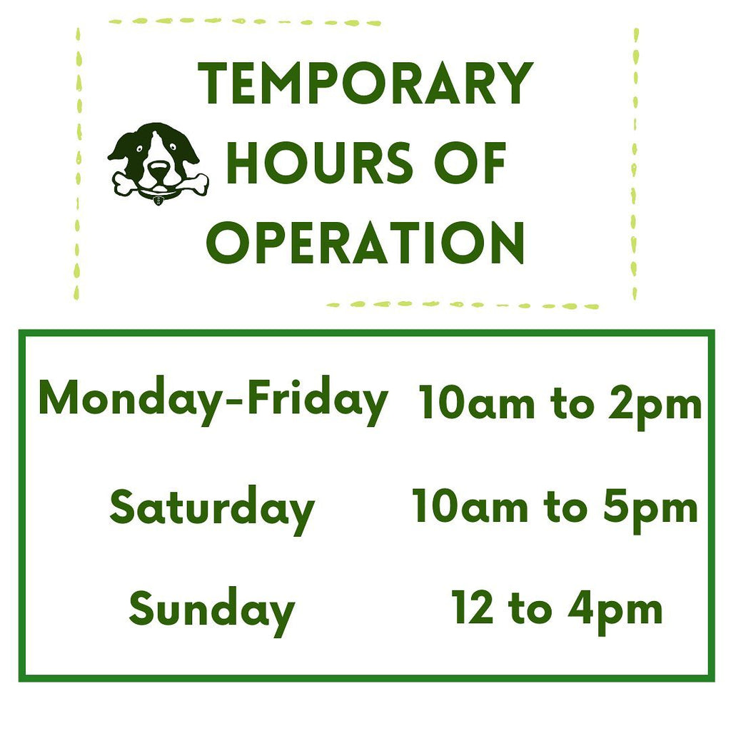 Temporary Store Hours
