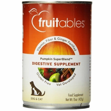 Fruitables Pumpkin Digestive Supplement Can Dog Food 15oz