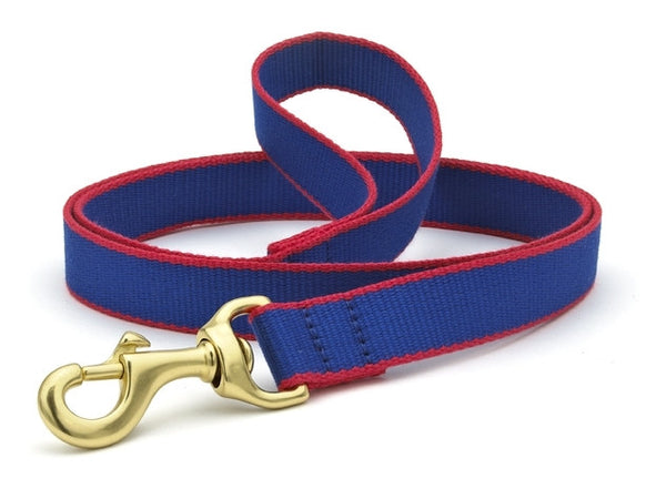Up Country Green Market Bamboo Leash Blue/Red