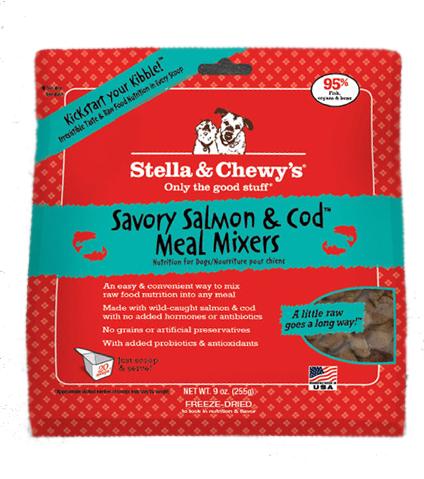 Stella & Chewy's Salmon & Cod Meal Mixer Freeze Dried Dog Food 9oz