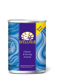 Wellness Chicken & Herring Complete Health Grain Free Can Cat Food 12.5oz