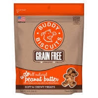 Buddy Biscuits Soft & Chewy Grain Free with Peanut Butter 5oz