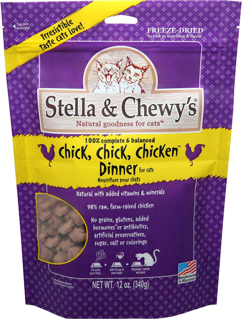 Stella & Chewy Chicken Dinner Freeze Dried Cat Food 12oz