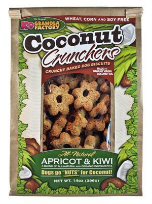 K9 Granola Factory Coconut Crunchers Apricot & Kiwi Treats 14oz