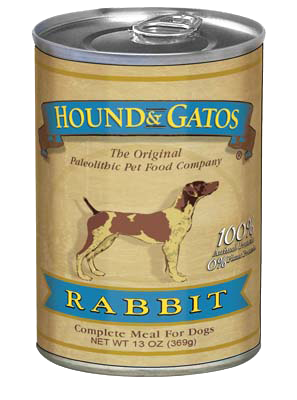 Hound & Gatos Rabbit Grain Free Can Dog Food 13oz