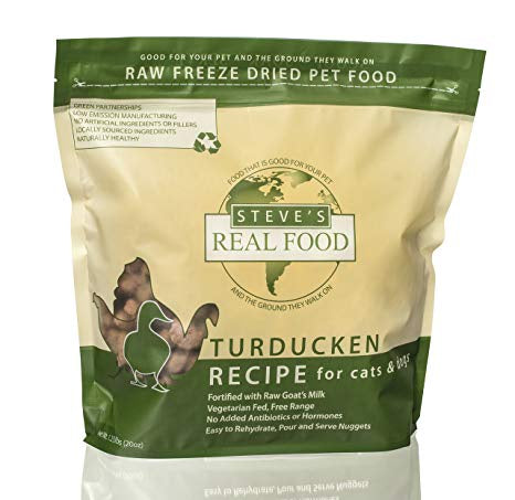 Steve's Real Food Freeze Dried Raw Turducken Dog Food 20oz