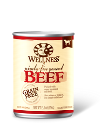 Wellness 95% Beef Grain Free Can Dog Food 13.2oz
