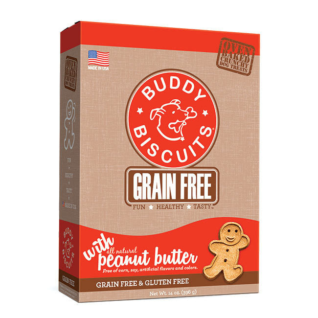 Buddy Biscuits Peanut Butter Grain Free Treats 14oz