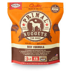 Primal Beef Frozen Raw Dog Food 3lb