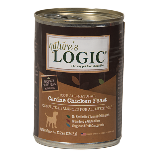 Nature's Logic Chicken Feast Grain Free Can Dog Food 13.2oz