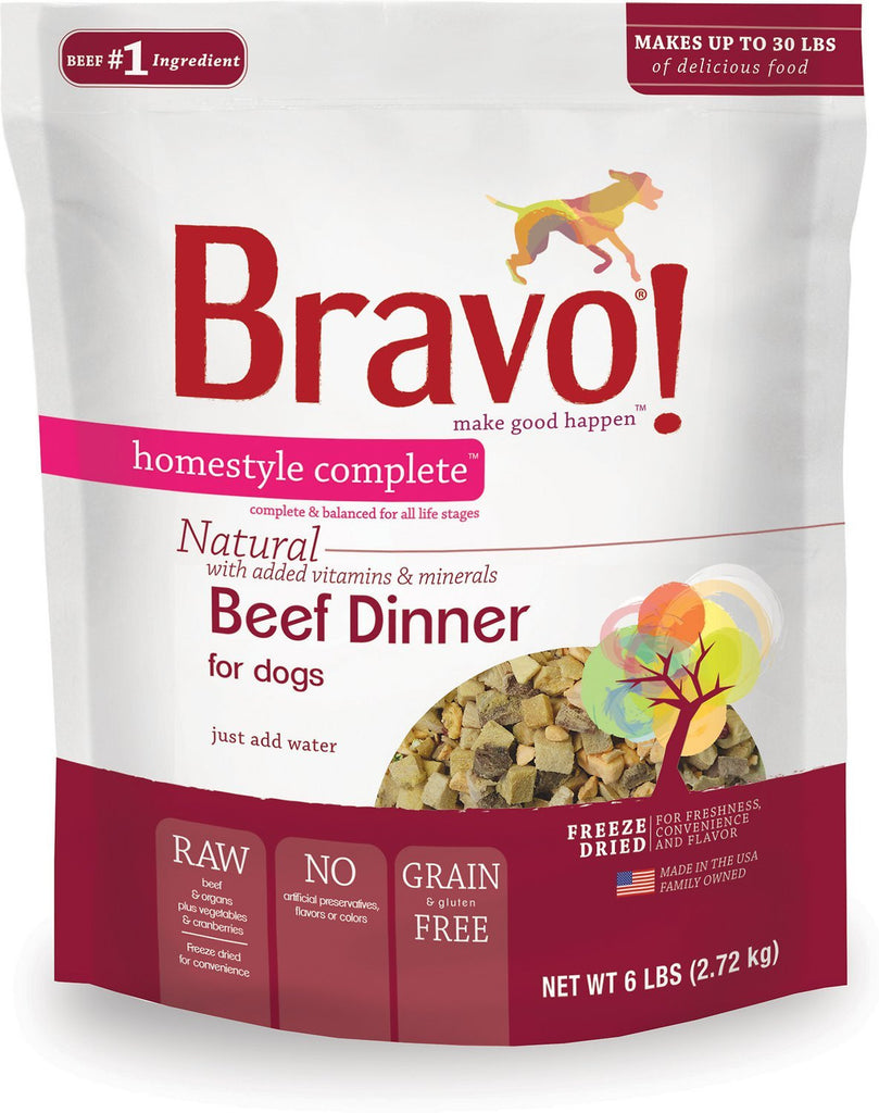 Bravo Beef Homestyle Complete Freeze Dried Raw Dog Food