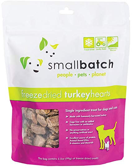 Smallbatch Freeze Dried Turkey Hearts 3.5oz