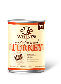 Wellness 95% Turkey Grain Free Can Dog Food 13.2oz