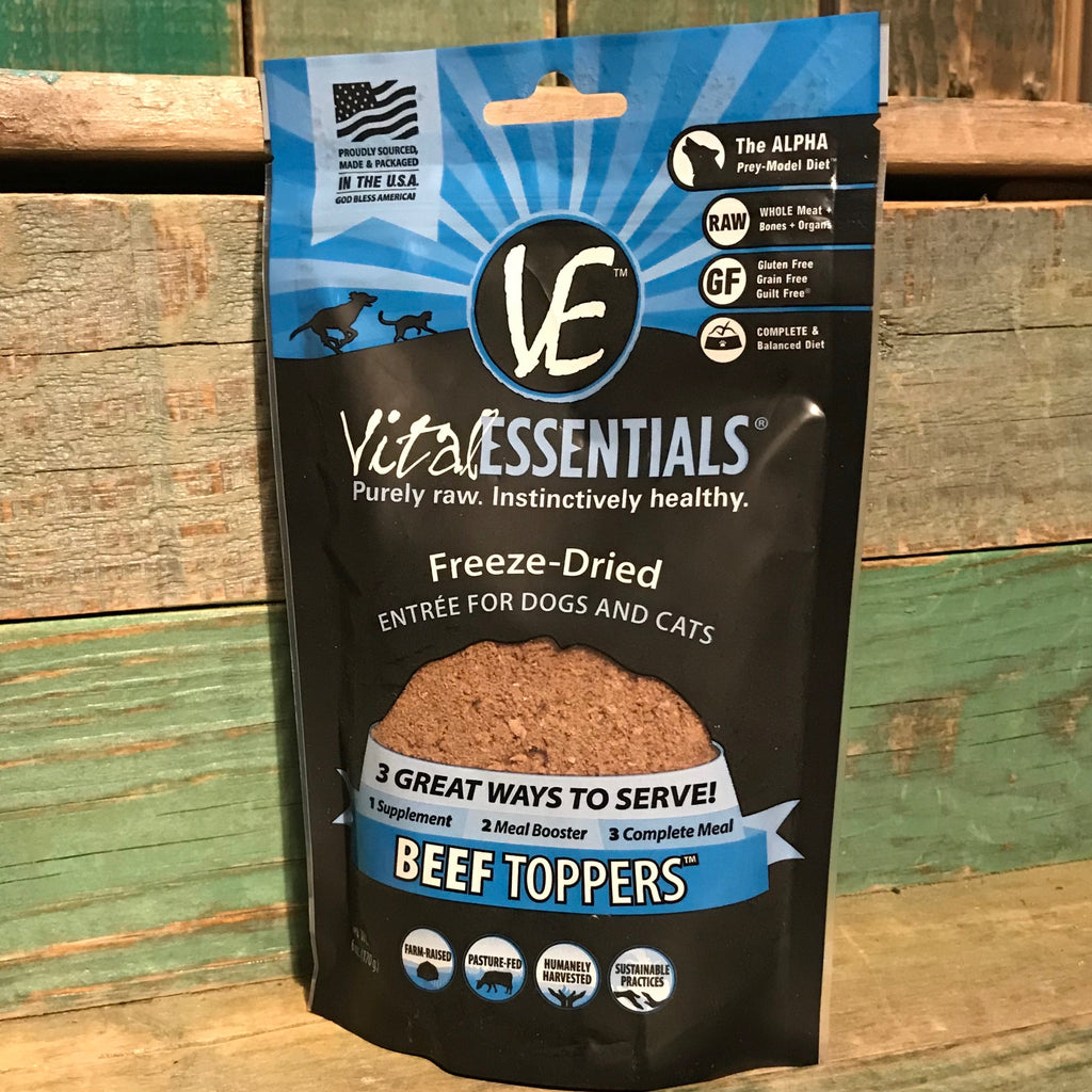 Vital Essentials Freeze Dried Beef Toppers 6oz