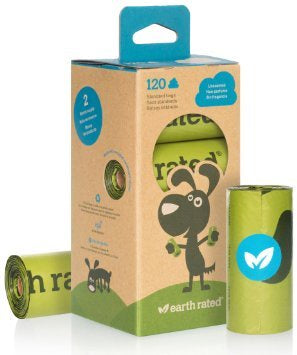 Earth Rated Poop Bags Unscented Refill Roll 120ct