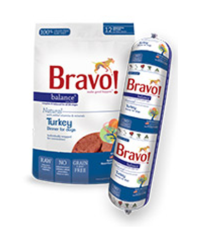Bravo Balance Turkey Frozen Raw Dog Food