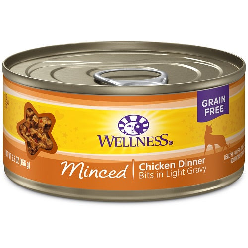 Wellness Minced Chicken Dinner Canned Cat Food 5.5oz