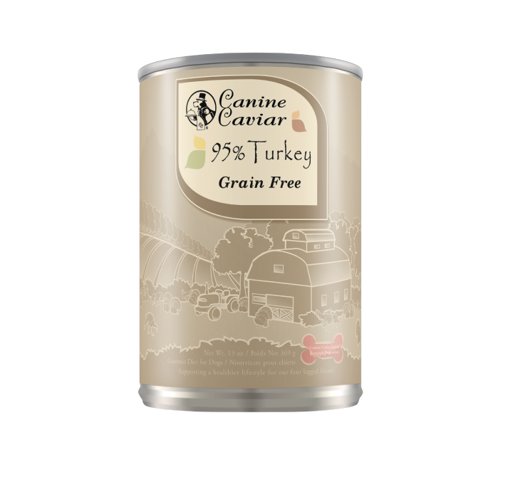 Canine Caviar 95% Turkey Grain Free Can Dog Food 13oz